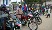 Okada riders have intended to stop operation at Anum Apapam SHS