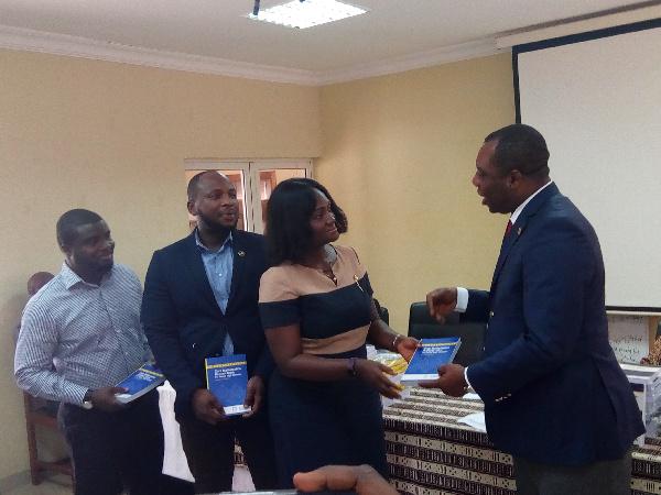 The presentation was done by Mrs Abena Serwaa Opoku Fosu on behalf of the Director General of GPHA