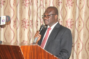 Head of Ground Water Division of the Water Research Institute,  Dr. Anthony A. Duah