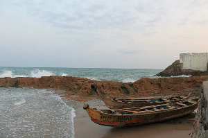 The view from the dungeon of the Cape Coast Castle