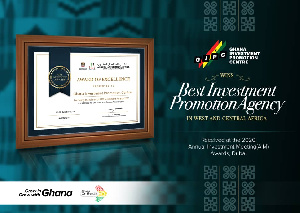 Ghana Investment Promotion Centre has been adjudged best agency in the West and Central Africa