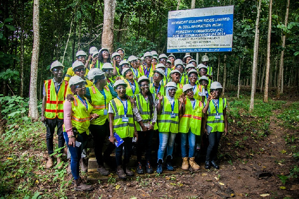 Participants at Akyem's Reforestation project