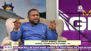 Communications team member of the NDC, Peter Akwasi Mensah