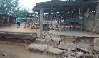 Awutu Bawjuase market traders have charged local authorities to repair their dilapidated market