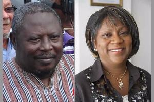 Dr Valerie Sawyerr and Martin Amidu