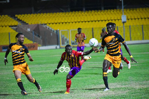 Hearts drew 2-2 with Ashgold