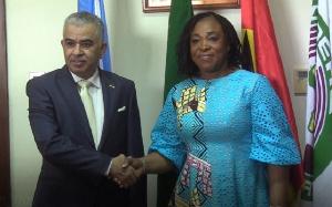 Kuwait Ambassador to Ghana, Mohammed Abdallah Al-Khalidi  with Shirley Ayorkor Botchwey
