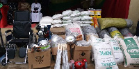 The donated items including cash is estimated at GHC80,000.00