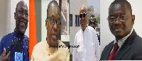 Ekwow Spio Garbrah, Alban Bagbin, Prof. Joshua Alabi, and Sylvester Mensah