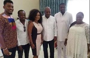 Former President of Ghana, John Dramani Mahama and some celebrities