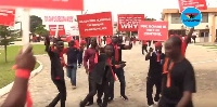 PBC workers demonstrated earlier this month over mismanagement in the company