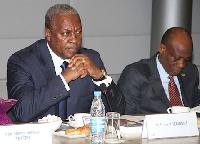 Finance Minister Seth Terkper with President Mahama