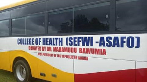 One of the buses donated by Bawumia