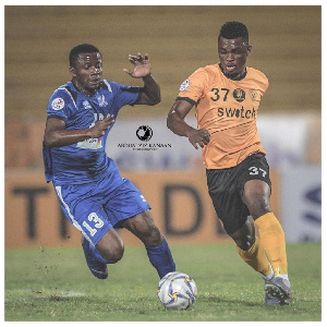 Sumaila (R) was adjudged the Man of the Match