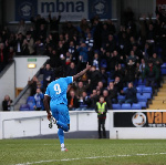 Akwasi Asante on target for Chesterfield in win over Weymouth