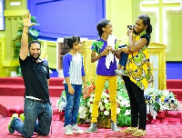Majid Michel and his family