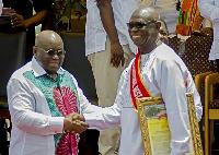 Mr Owusu-Koranteng receives award from President Akufo-Addo