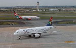 A South African Airways aircraft at the OR Tambo International Airport, (Reuters)