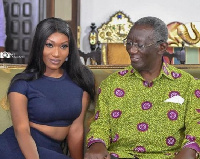 Wendy Shay with former President JA Kufour