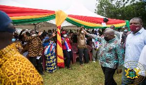President Akufo Addo In Ahafo Region