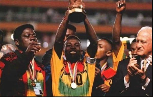 Ghana's U-17 team won the FIFA U-17 World Cup title twice in the 1990s