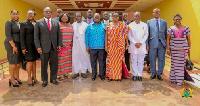 President Nana Addo Dankwa Akufo-Addo with members of the board