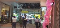 Customers fled when portions of the ceiling collapsed