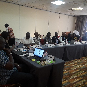 Some participants at a training workshop for national ozone officers