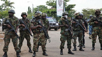 The Military personnel were at post to help curb any unforeseen aggressive behaviours