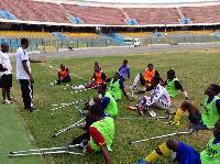 Ghana Amputee Football Team is training towards Amputee Football World Cup in October