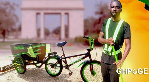Ghanaian who invented water bicycle makes a sweeping bicycle