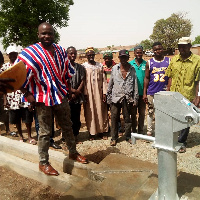 Mr. Gumah donated the borehole to members of Talensi Constituency