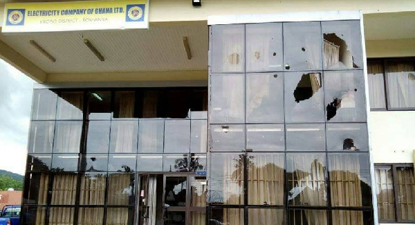 Staff of ECG withdrew their services from Somanya and its environs following violent attacks