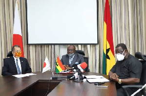 The Ghana-Japan agreement being signed