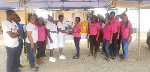 Presentation of items to a rep of the hospital