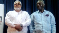Former President Rawlings (L) has apologised to Kufuor (R) over his inappropriate choice of words