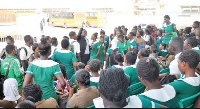 File photo: A group of nurses converged at the Ministries