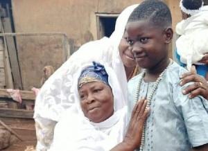 Sahadatu Adams in a heartwarming pose with her late son, Ishmael
