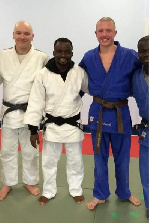 The Ghanaian Judokas in the comapany of other juodkas