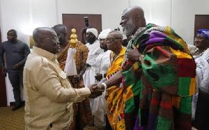 President Nana Addo Dankwa Akufo-Addo and Nii Okwei Dowuona IV