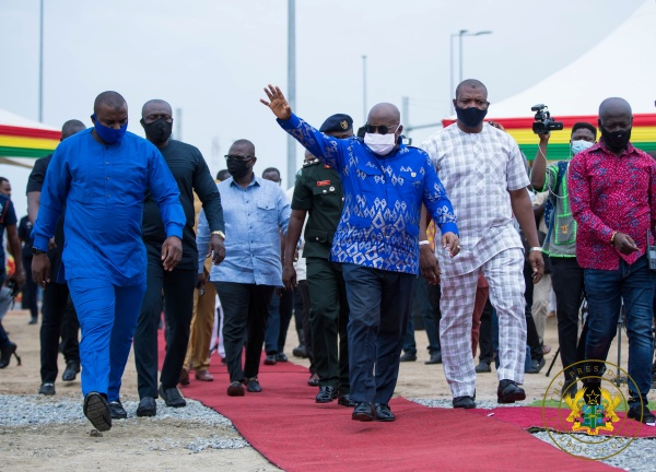 President Akufo-Addo commissions phase 1 of Tema Motorway interchange