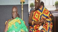 Okyehene Amoatia Ofori Panin (Left) and Asantehene Otumfuo Osei Tutu II (Right)
