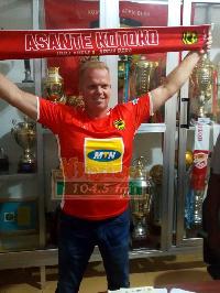 Asante Kotoko head coach Kjetil Zachariassen