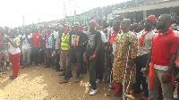 Woodworkers and traders at the Ashaiman Timber market are against demolition of parts of the market