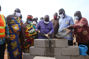 President Akufo-Addo during the sod cutting ceremony