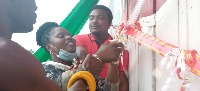 NDC Parliamentary Candidate for Jomoro Constituency, Dorcas Affo-Toffey unveiling the office complex
