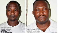 Kponyo Seth Dodzi (L) embarked on several robberies with the help of Gasty Yahya Seidu (R)