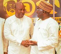 Vice President Dr Mahamudu Bawumia with John Mahama