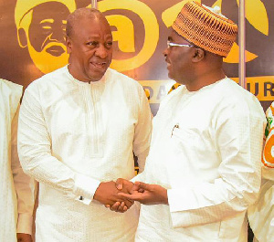 Former president John Dramani Mahama and Vice president Mahamudu Bawumia