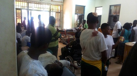 The 48 injured students are currently receiving treatment at the Koforidua Regional Hospital
